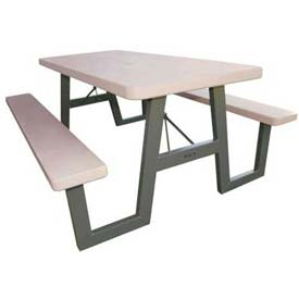 Lifetime® W-Frame Folding Picnic Table - Putty