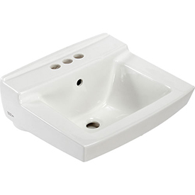 "American Standard Declyn 0321026.020 Wall Hung Square Lavatory Sink W/4"" Centers"