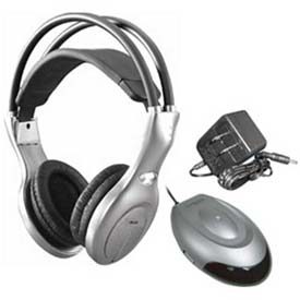 Infrared Headphone Set IR-20Set, Silver/Black