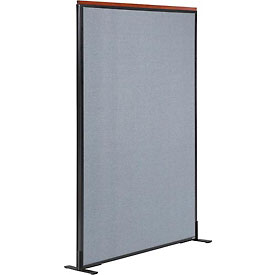 "Deluxe Freestanding Office Partition Panel, 48-1/4""W x 61-1/2""H, Blue"