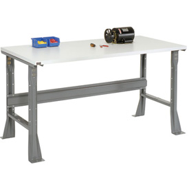 "72""W X 30""D X 34""H ESD Square Edge Workbench - Gray"