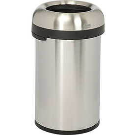 simplehuman® Bullet Open Top Can - 21 Gallon Brushed SS