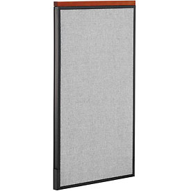 """Deluxe Office Partition Panel, 24-1/4""""W x 43-1/2""""H, Gray"""
