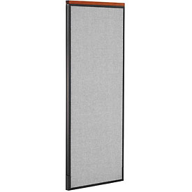"Deluxe Office Partition Panel, 24-1/4""W x 61-1/2""H, Gray"