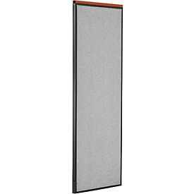 "Deluxe Office Partition Panel, 24-1/4""W x 73-1/2""H, Gray"