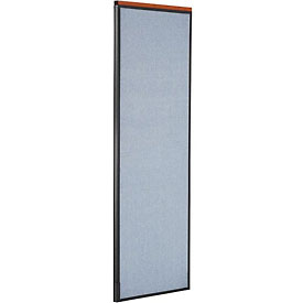 "Deluxe Office Partition Panel, 24-1/4""W x 73-1/2""H, Blue"