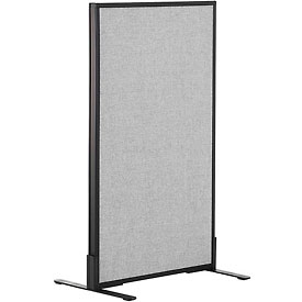 """Freestanding Office Partition Panel, 24-1/4""""W x 42""""H, Gray"""