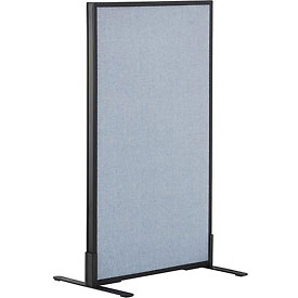 """Freestanding Office Partition Panel, 24-1/4""""W x 42""""H, Blue"""