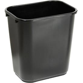 Global™ 28-1/8 Qt. Plastic Wastebasket - Black