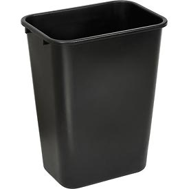 Global™ 41-1/4 Qt. Plastic Wastebasket - Black