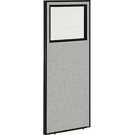 """Interion™ Office Partition Panel with Partial Window, 24-1/4""""W x 60""""H, Gray"""