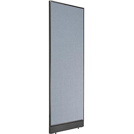 "Non-Electric Office Partition Panel with Raceway, 24-1/4""W x 76""H, Blue"