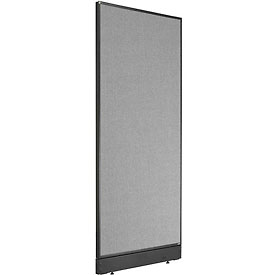 "Non-Electric Office Partition Panel with Raceway, 24-1/4""W x 64""H, Gray"