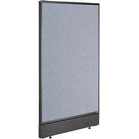 "Office Partition Panel with Pass-Thru Cable, 24-1/4""W x 46""H, Blue"