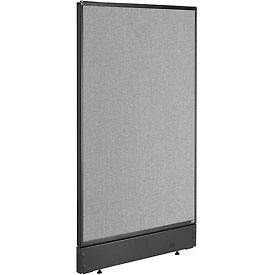 "Interion™ Office Cubicle Partition Panel with Pass-Thru Cable, 24-1/4""W x 46""H , Gray"