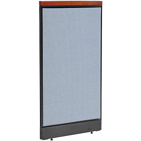"""Deluxe Office Partition Panel with Pass Thru Cable, 24-1/4""""W x 47-1/2""""H, Blue"""