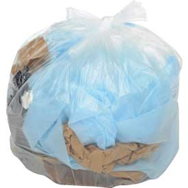 Global™ Medium Duty Natural Trash Can Liners - 40 to 45 Gallon, 14 Mic, 250/Case