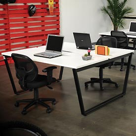 "Collaboration Table - Double - 60""W x 60""D x 30""H - Gray"
