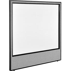 "Interion™ Office Cubicle Partition Panel with Full Window, 60-1/4""W x 60""H, Gray"