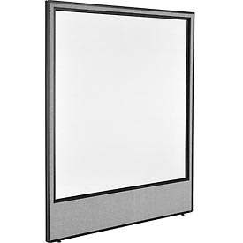 """Interion™ Office Cubicle Partition Panel with Full Window, 60-1/4""""W x 72""""H, Gray"""