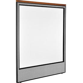 "Interion™ Deluxe Office Cubicle Partition Panel with Full Window, 60-1/4""W x 73-1/2""H, Gray"