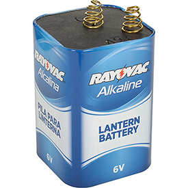Rayovac 806 6V Spring Terminal Alkaline D Cell Lantern Battery Package Count 6 by