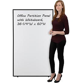 "Interion™ Office Partition Panel with Whiteboard, 36-1/4""W x 60""H"