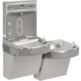 elkay lzstl8wslk water refilling station bilevel reversible wfilter light - Elkay Drinking Fountain