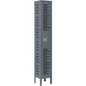 Infinity™ Heavy Duty Ventilated Steel Locker, Single Tier, 1-Wide, 12x12x72, Unassembled, Gray
