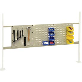 """Mounting Kit with 18""""W Pegboard and 36""""W Louver for 72""""W Workbench- Tan"""