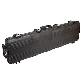 "Plano All Weather Storage Rifle Case w/Foam & O-Ring Seal Box, 54-5/8""Lx15-1/2""Wx6""H, Black by"