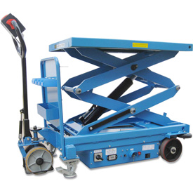 Self-Propelled Battery Powered Scissor Lift Table 2000 Lb. Cap. by