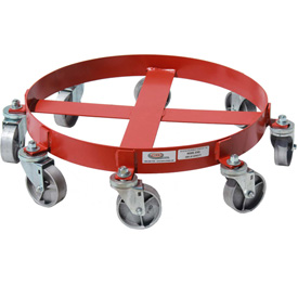Modern Equipment MECO 836S  55 Gallon 8-Wheel Drum Dolly Steel Casters