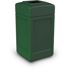 42 Gallon Square Waste Receptacle - Green