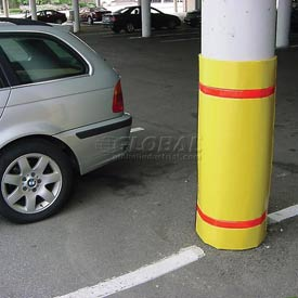 Traffic parking lot safety protectors column post for Garage column wrap