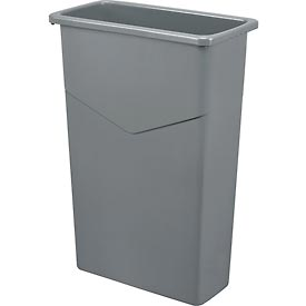 Global™ 23 Gallon Slim Trash Container - Gray