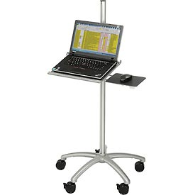 Mobile Height Adjustable Anti-Theft Laptop Computer Workstation Security Cart