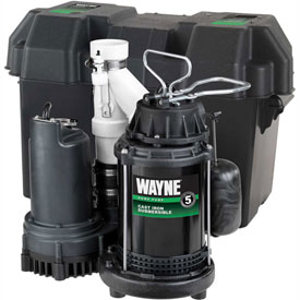 Buy Wayne WSS30V Pre-Assembled 1/2 HP Combination Primary & Battery Backup Sump Pump System