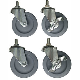Dehnco Set of 4 casters for Carton Rack