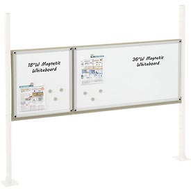 "Mounting Kit with 18""W and 36""W Whiteboard for 60""W Workbench- Tan"