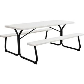 """Plastic Picnic Table - Blow Molded - 72"""" x 30"""""""