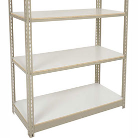 "Heavy Duty Tan Shelving 48""W x 12""D Additional Level, Laminate Deck"
