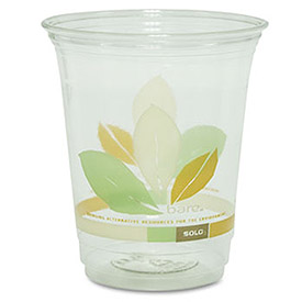 Bare Eco-Forward RPET Cold Cups, 12-14 oz, Clear, 50/Pack, 1000/Carton