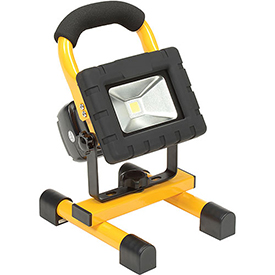 Global™ Rechargeable LED Work Light, 2 Batteries, Magnetic Feet, Car/AC Adapter, USB Port,Case