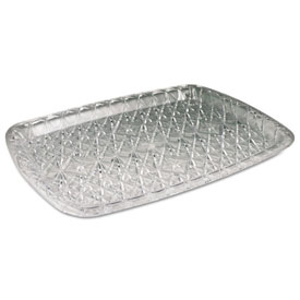 Crystal Cut Plastic Serving Tray 14-3/8w x 10-3/4d, Clear 12/carton by