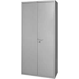 "Global™ Heavy Duty  Steel Storage Cabinet -16 Gauge Steel All-Welded Gray - 36""W x 18""D x 84""H"