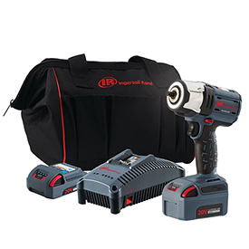 "Ingersoll Rand W5132-K22 IQV20 Series 3/8"" 20V Cordless Impact Wrench Kit 2 Batteries 5.0Ah by"