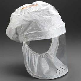 3M™ White Respirator Head Cover BE-12L-3, Large, 3/Case
