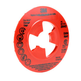 """3M™ Disc Pad Face Plate Ribbed 80516 7"""" - Pkg Qty 10"""
