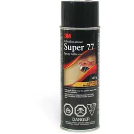 3m Super 77 Low VOC Spray Adhesive Clear, 62487649303 Package Count 12 by
